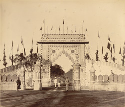 Triumphal arch, east gate [of the] New Palace [Kolhapur].